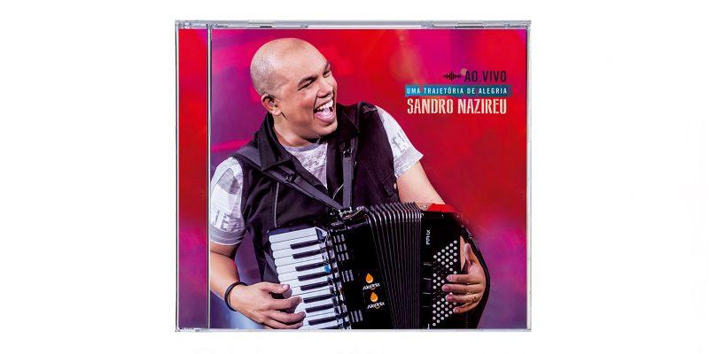 Primeiro CD ao vivo de Sandro Nazireu já chegou da fábrica