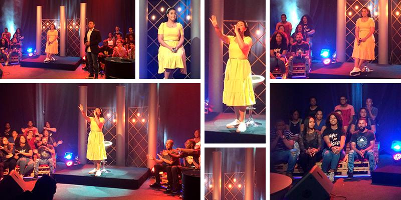 Catarina Santos participa de estreia de programa do Canal CJC